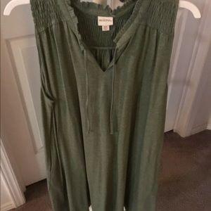 Green Sleeveless Knit Dress